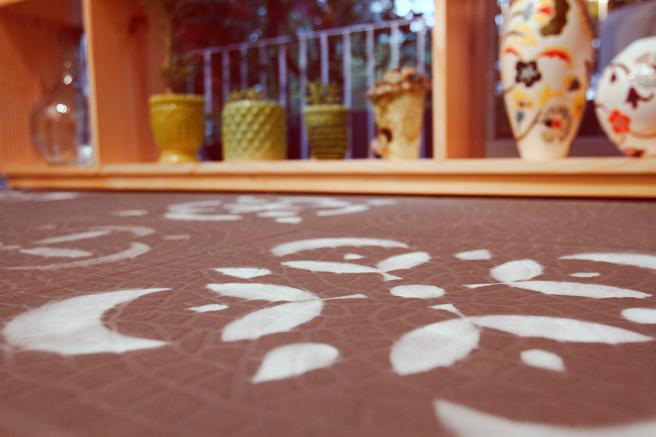 Chão com stencil